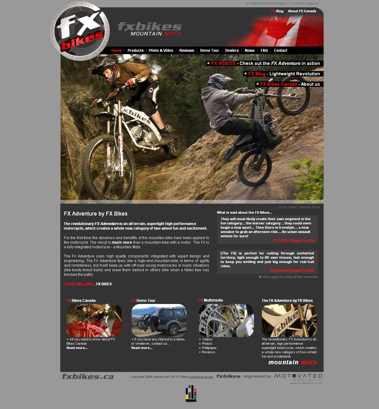 FX Bikes [WEB DESIGN]