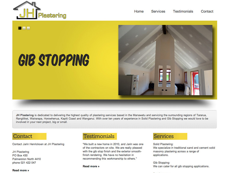 Plastering company in Palmerston North [WEB DESIGN]