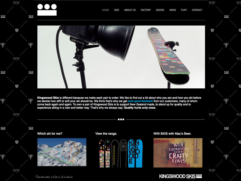 Custom made skis company [WEB DESIGN]