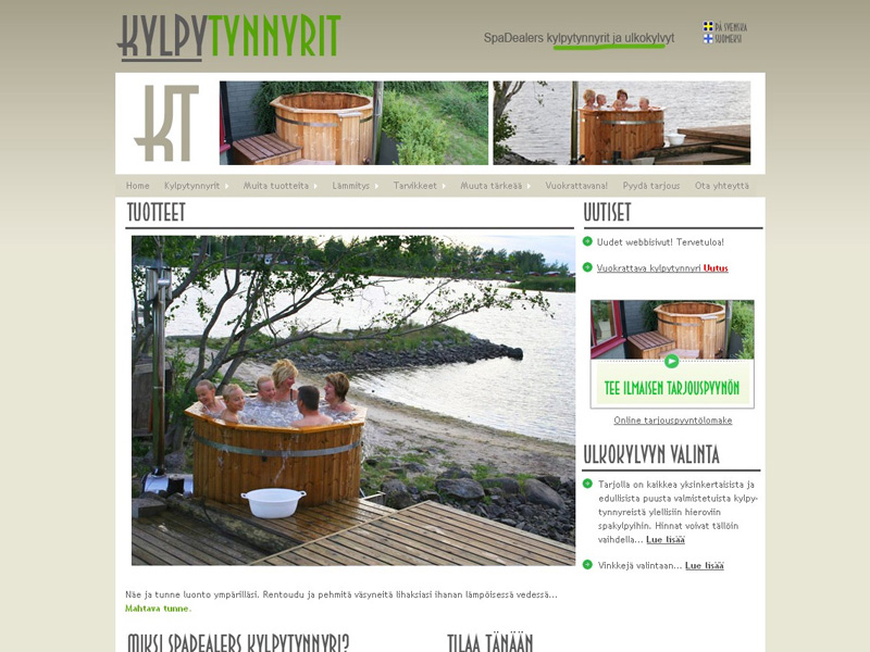 Company that sells hot tubs [WEB DESIGN]