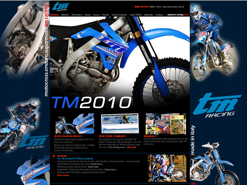 NZ distributor of Italian TM Racing motorcycles
